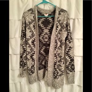 Tribal grey cardigan sweater like new. Medium
